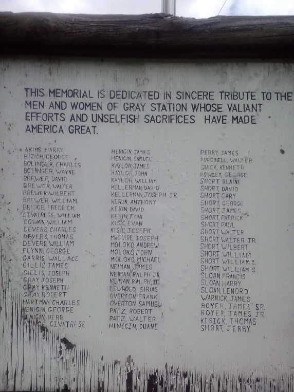 Gray Station Roll of Honor