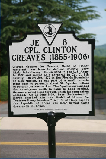 Corporal Clinton Greaves Memorial Historical Marker