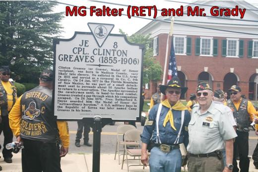 Corporal Clinton Greaves Memorial Historical Marker