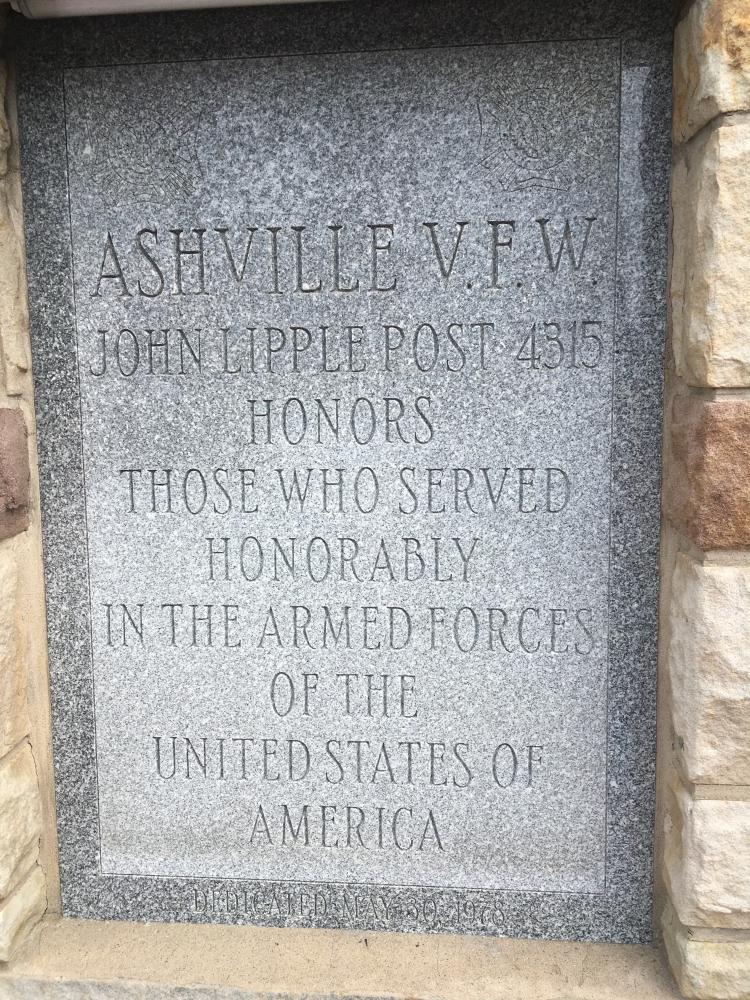 Ashville VFW Post Veteran's Memorial