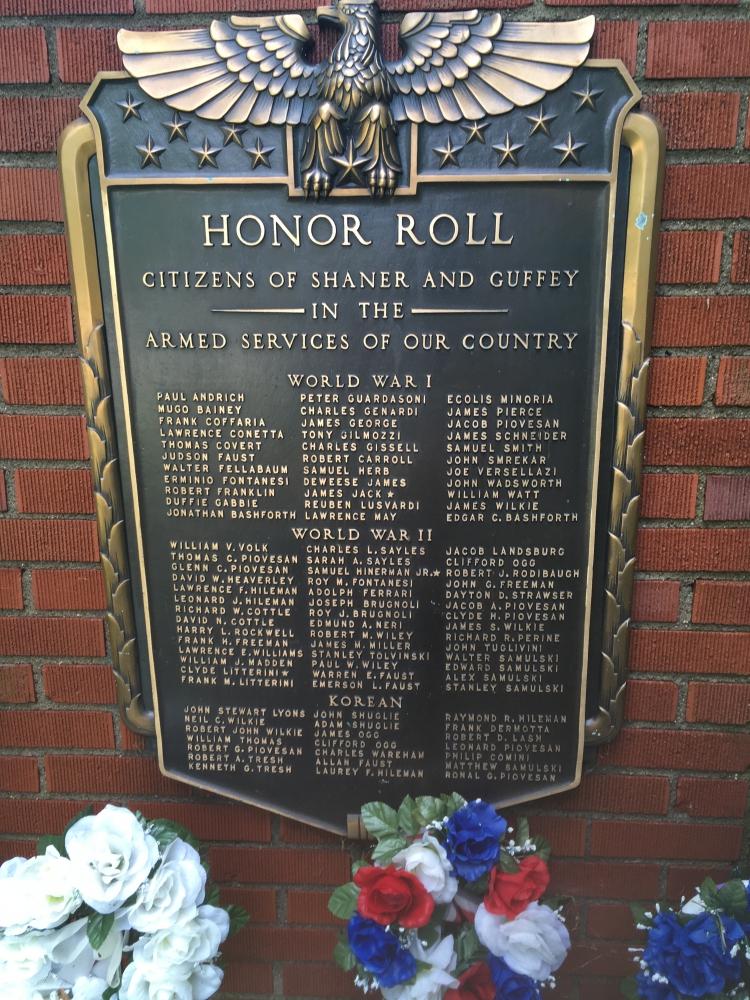 Shaner & Guffy Honor Roll