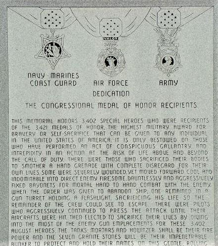 Medal of Honor Memorial - Helena, Oklahoma