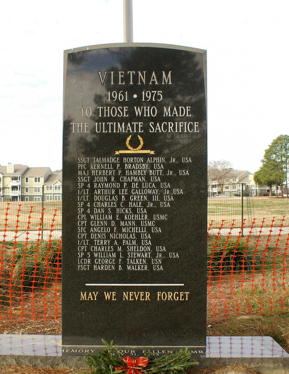 Memorial to Honor Local Veterans Killed in Action in VietNam