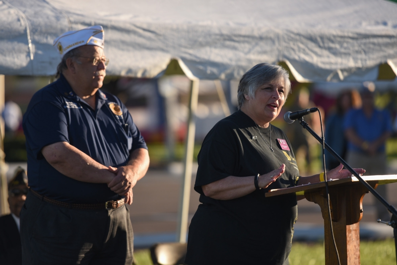 American Legion Auxiliary President Mary E. Davis speaks during The American Legion Department of Indiana's
