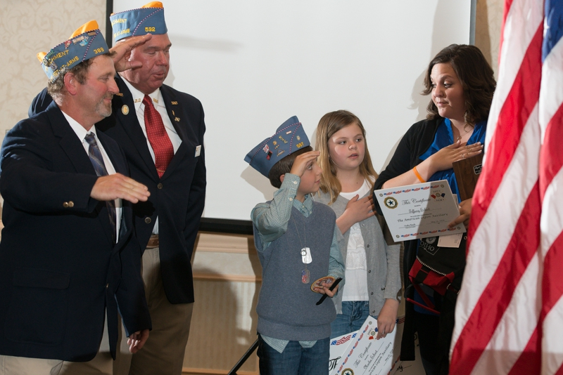 Myles Eckert given lifetime Sons of The American Legion membership