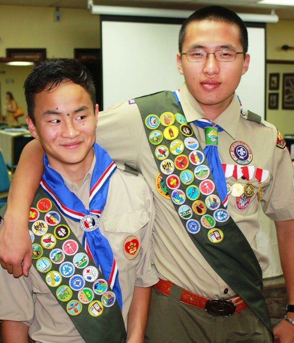 Eagle Scout ceremony sponsored by China Post 1 (pt. 2)
