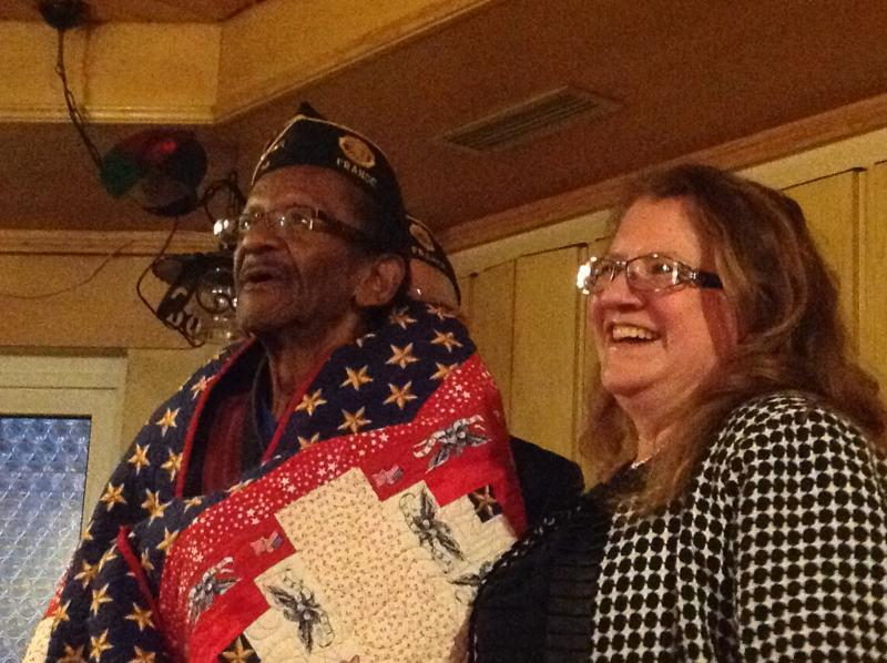 Quilts of Valor Foundation makes a presentation