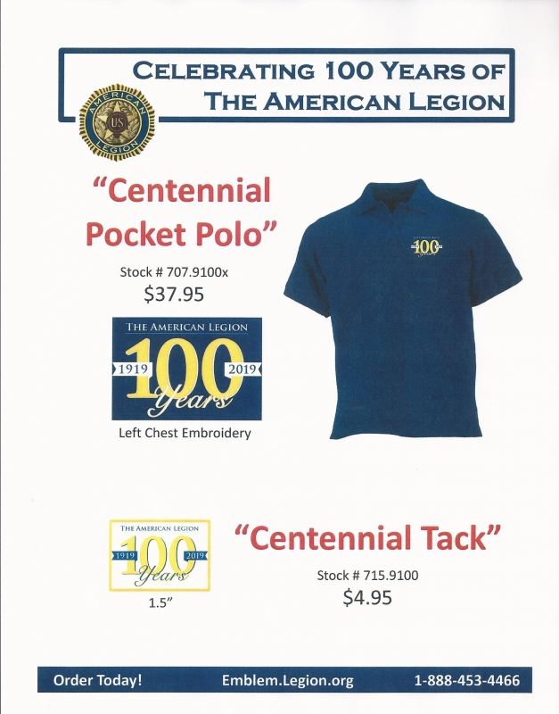 100th Anniversary merchandise available