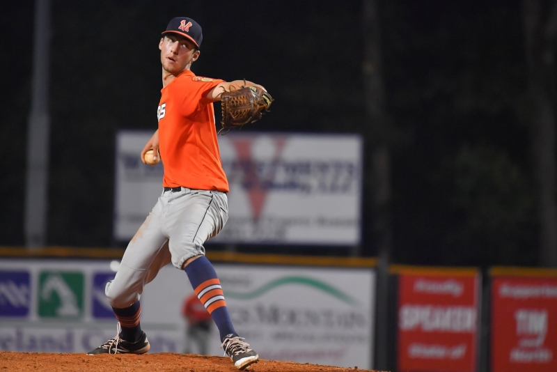 Game four of the 2018 American Legion World Series saw Las Vegas, Nev., Post 40 overtake Meridian, Idaho, Post 113 10-0 after five innings at Veterans Field at Keeter Stadium in Shelby, N.C., on Thursday, Aug. 16, 2018. Photo by Lucas Carter/The American Legion.