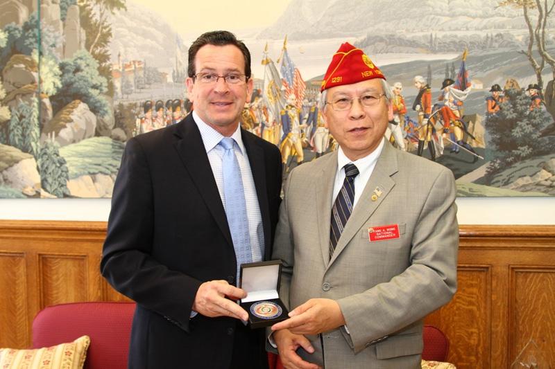 Commander Wong Visits Connecticut