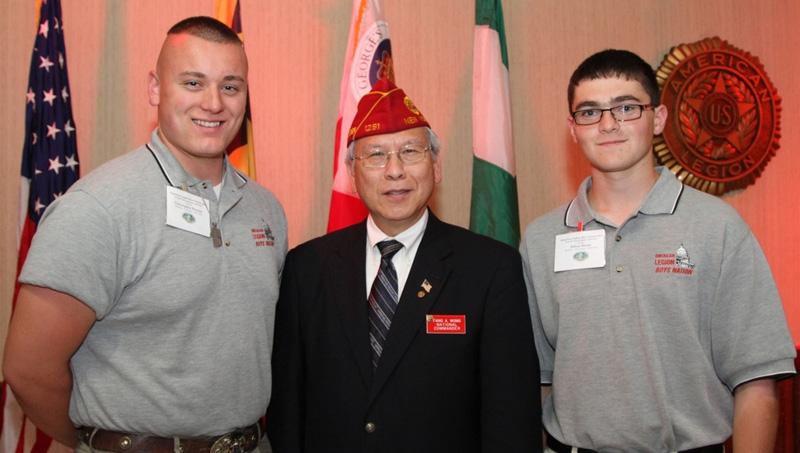 Commander Wong at Boys Nation