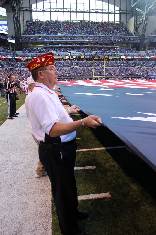Flag Ceremony at Indianapolis Colts Game