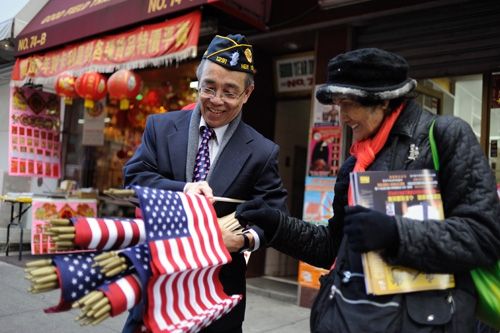 2013 Chinatown Veterans Day Parade in New York City