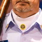 A Legion emblem is sewn into the neck of a Sedalia, Mo., George Whiteman Memorial Post 642 uniform as the 2017 American Legion Color Guard Contest is held on Friday, August 18, 2017 at Reno-Sparks Convention Center in Reno, Nev. Photo by Lucas Carter/The American Legion.