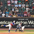 Omaha, Neb., Post 1 topples Randolph County, N.C., Post 45 3-1 in game 14 of The American Legion World Series on Tuesday, August 15, 2017 at Veterans Field at Keeter Stadium in Shelby, N.C. Photo by Matt Roth/The American Legion.