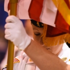 Christine Lupacchino of Easthampton, Mass., Post 224 posts the colors during the 2017 American Legion Color Guard Contest, held on Friday, August 18, 2017 at Reno-Sparks Convention Center in Reno, Nev. Photo by Lucas Carter/The American Legion.