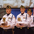 American Legion Newport Harbor Post 291 from Newport Beach, Calif., wins first in both the military open class and advancing and retiring the colors, and will serve another year as the National Commander's color guard. Photo by Lucas Carter/The American Legion.