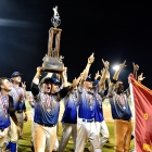 Members of Henderson, Nev., Post 40 celebrate after a 2-1 American Legion World Series Championship game win over Omaha, Neb., Post 1, Tuesday, August 15, 2017 in Shelby, N.C. Photo by Matt Roth/The American Legion.