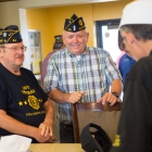 Hebert Springs Arkansas Post 64 Commander Louis Gray, left, and Philip Seybert, Jefferson County New York commander and other members of The American Legion National Security Commission, tour the facilities at Naval Air Station Fallon in Fallon, Nev. Phot