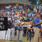 The 8 teams are presented during the parade of champions during The American Legion World Series on Thursday, August 10, 2017 in Shelby, N.C.. Photo by Lucas Carter/The American Legion.