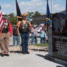 A veterans memorial is dedicated in Green River, Utah on Monday, August 14, 2017. Photo by Jeric Wilhelmsen / The American Legion.