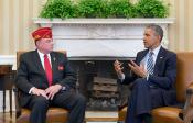 The Sons of The American Legion Dellinger, president talk veterans in Oval Office