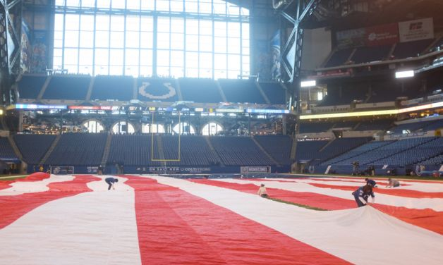 American Legion presents the Super Flag before Indianapolis Colts game
