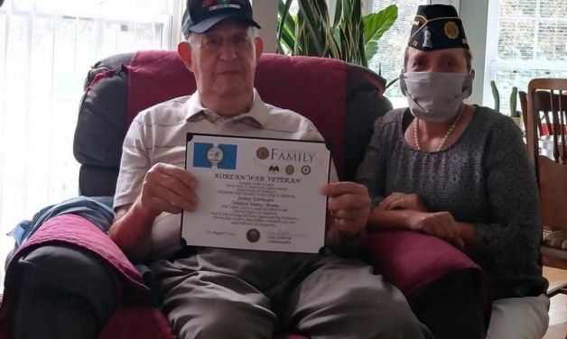 Dover (Tenn.) Post 72 presents Korean Commemorative Certificates and Pins to veterans in the community