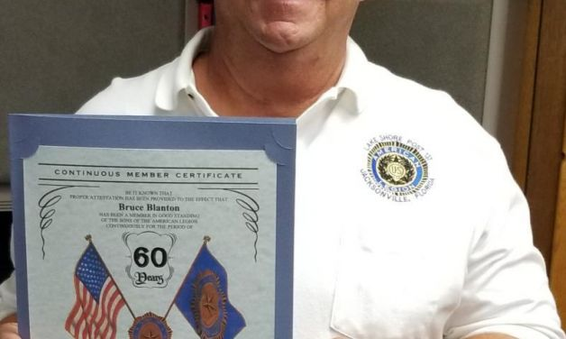 Certificate awarded for 60 years of service