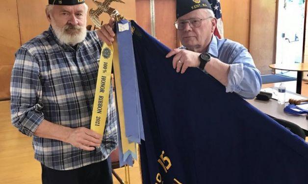 Post 15 (Kent, Wash.) receives 100% Honor Ribbon for membership
