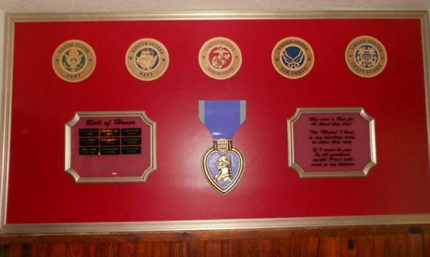 American Legion Post 101 dedicates Purple Heart Wall