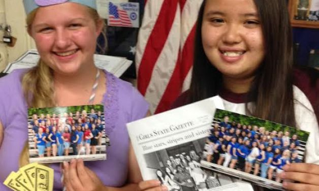 American Legion Post 555 sponsors two local high school students for Girls State