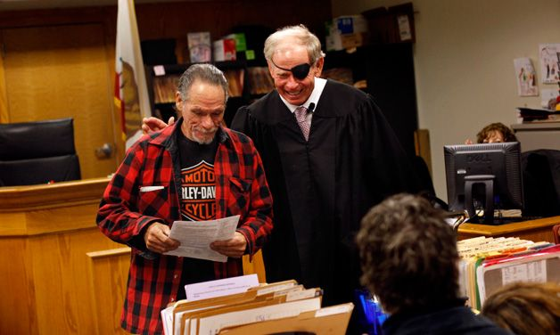 Harold Thomas, a Vietnam War combat veteran, successfully completed treatment after ending up in Judge Stephen Manley's court on drug charges.