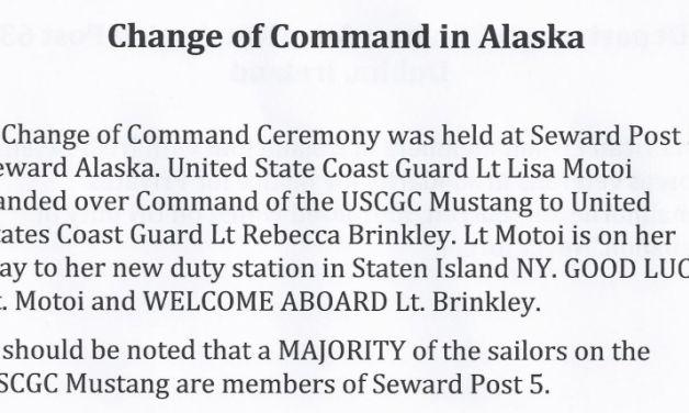 Change of command in Alaska
