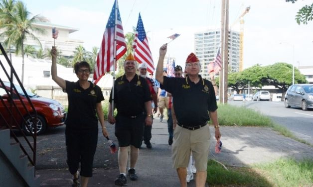 Legion Leadership In Hawaii Commerating Pearl Harbor Day