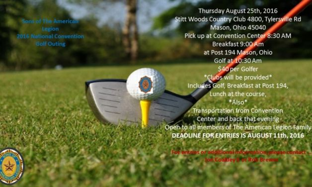 S.A.L. 2016 National Convention Golf Outing Information. All Golf Hole Sponsorships Need to be in by August 2nd!