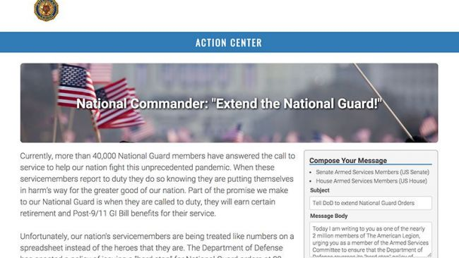 Commander: contact Washington to help National Guard
