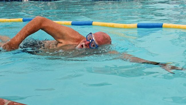 Swimming 100 miles for veterans and children