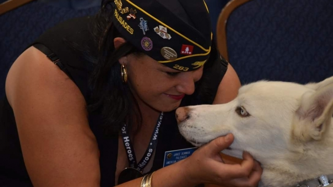 Legionnaire's charity: A family with a commitment to service dog training