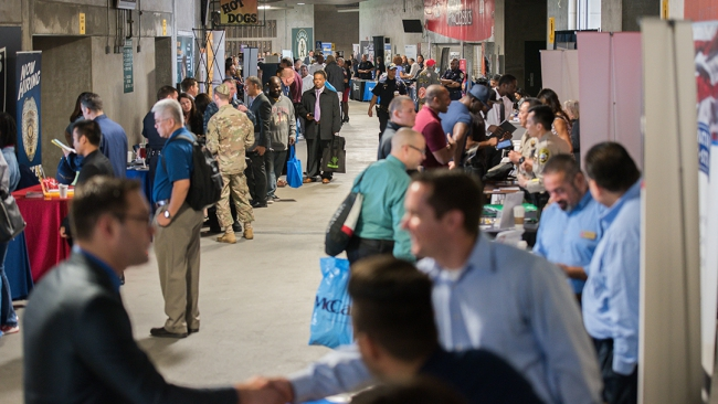 Check out upcoming job fairs for veterans
