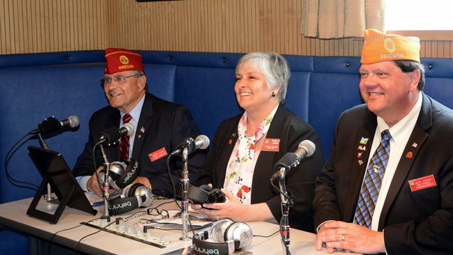 Legion, Auxiliary and SAL leaders broadcast to troops overseas