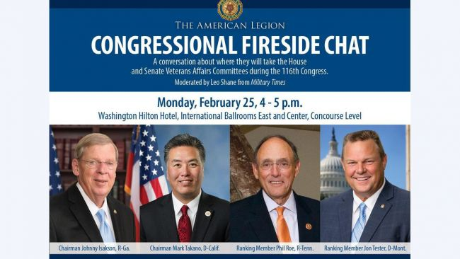 Fireside Chat to highlight veterans issues in 116th Congress