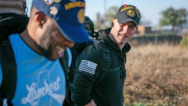 Legionnaire buddies walk 2,462 miles to support veterans