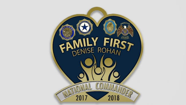 Legion Family eligible for commander's membership pin