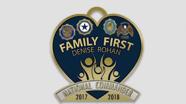 Legion Family eligible for commander's membership pin