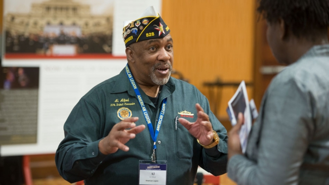 The 'best kind of handshake' for young veterans