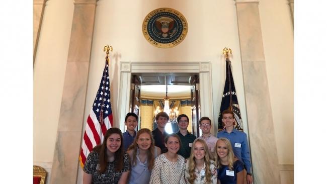 White House visit culminates Legion scholars D.C. trip