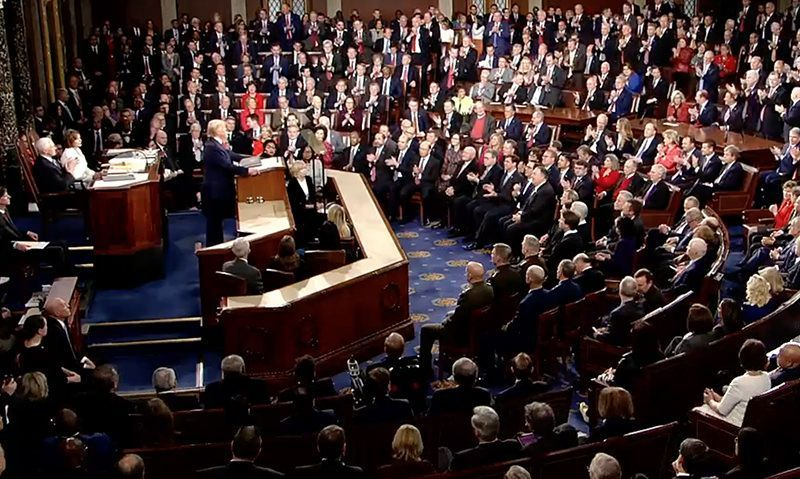 Trump addresses military issues in State of the Union