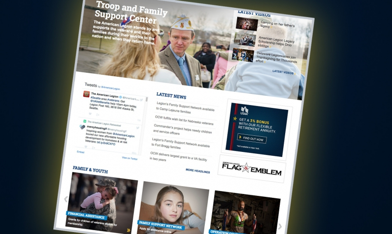 New web page hosts Legion's family support programs