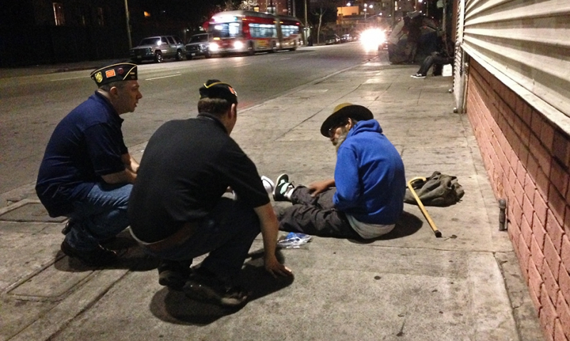 A night on Skid Row with LA's homeless veterans | The ...